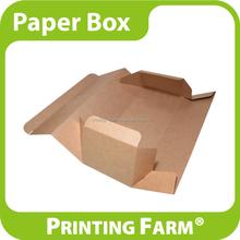 Spot Color Printed Brown Kraft Paper Box