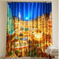 Arabic digital print 3d draperies and curtains for home