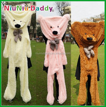 2015 new semifinished bear toys teddy bear skins wholesale unstuffed plush animals