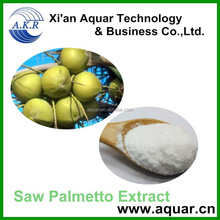 Factory supply/Natural Saw Palmetto Extract powder/Fatty acids Powder and oil/ GC tested