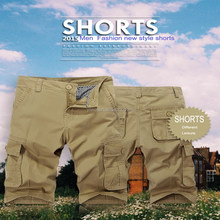 2015 New summer cargo shorts casual high quality cotton fabri's more pockets cargo pants for men