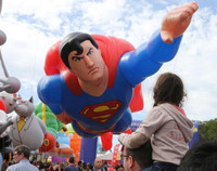 2015 HOT Giant inflatable flying super man,inflatable super heroes