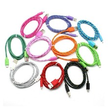 3FT 6FT 9FT Micro USB Tough Flat Nylon Braided USB Data Sync Charger Cable For Android Samsung Galaxy S4 S3 HTC LG