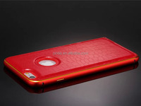 Crocodile Texture Genuine Leather Cover With Metal Bumper Case For iPhone 6 4.7''