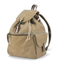 Wholesale fashion canvas drawstring backpack for girls