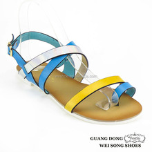 customizable flat comfort ankle cross design thong new fashion for girls sandals
