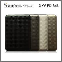 Smodo 2016 hot selling 7000mAh power bank private mould dots ABS shell