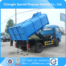 China diesel type mini garbage truck price 5-6 m3 cbm garbage truck sale in Dubai india