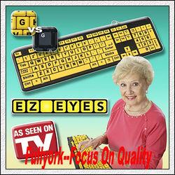EZ Eyes Large Print Keyboard As Seen On TV Easy Eyes Keyboard