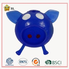 Funny Toy Sticky Splat Pig Head Venting Ball