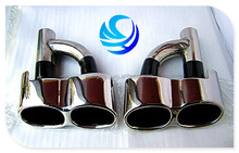 High quality Stainless Steel/SS 304 Silver Dual Outlet Exhaust Tips For BMW 221