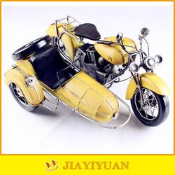 Metal Crafts Yellow Handmade 3 Wheel Motorcycle Model