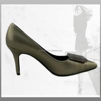 OU4 feminine shoes woman Bronze pointy heel new women shoes 2015
