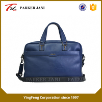 Oily leather single layer business laptop messenger bag for men
