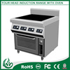 Stainless steel Four burner commercial induction ranges
