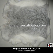Factory direct selling 100% real raw rabbit skin in chinchilla color