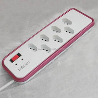 7outlet Brazil type with 630Joules outlet power strip with usb ports