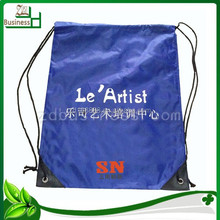 Popular hot selling nylon polyester drawstring backpack with printing