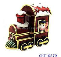 Professional produce jewelry case and box metal train trinket box