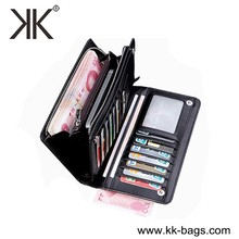 Fashion leather teen wallets genuine leather branded wallet for men