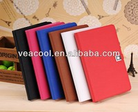 "Magnetic Button PU Leather Folio Stand Case Cover For Apple Ipad MINI 7""tablet case"