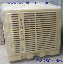 Airflow 25000 m3/h up discharge variable speeds evaporative air cooler