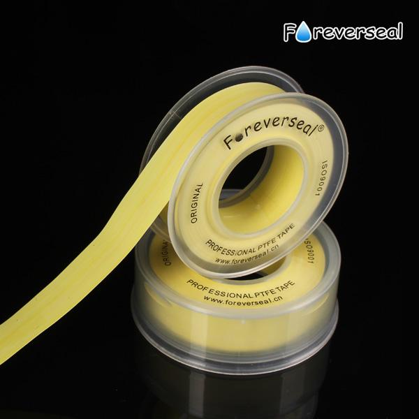 yüksek yoğunluklu sarı gaz hattı PTFE iplik mühür bandı