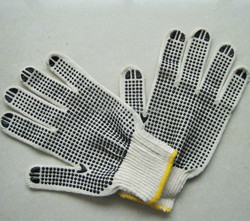pvc one side polka dot gloves 10guage 7guage gloves industrial working