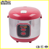 2015 new design 1.8 liter stainless steel cute rice cooker