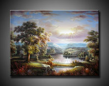 2013 new designs art painting natural scenery