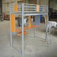 school metal bed with computer desk /loft bed
