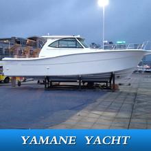 38ft large fiberglass diesel inboard cabin fishing boat