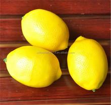 2015 hot selling lifelike artificial mini lemon fake fruit faux food for house kitchen party wedding decor