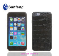 100% high quality leather sticker mobile phone case for apple iphone 6
