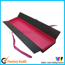 customized packaging for hair extension with silk ribbon wholesale