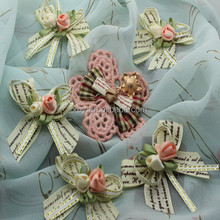 Fashion flower sew-on embroidery brooch for decoration