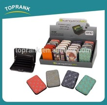 TOPRANK credit card holder wallet, rfid card holder plastic, aluminium credit card wallet