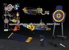 nuevo 2014 de plástico blando bala de tiro con arco arcos y flechas shooting del juguete