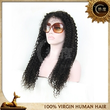 wholesale factory price bleached knots kinky hair half wig brazilian hair kinky curly lace wig