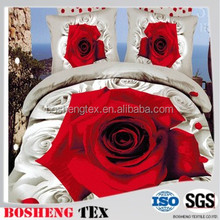 Printed 100 Polyester woven brushed fabric for home textile fabric