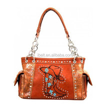 WOMEN'S COWGIRL COLLECTION EMBELLISHED BOOT HANDBAG