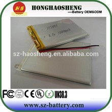Tablet pc replacement battery tablet PC battery 357095 3.7v 3000mAh li-polymer batteries