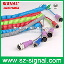 Flexible Wire M12 A coding m12 spring cable