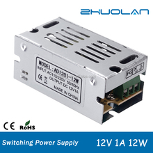 12volt mini constant current led power driver ac 85~265v to dc 12v 1a 12w