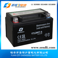 Motorcycle Replace Parts/Maintenance Free Lead Acid Motorcycle Battery 12v 7ah
