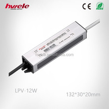 LPV-12W 12v 24v dc LED constant voltage waterproof switching power supply