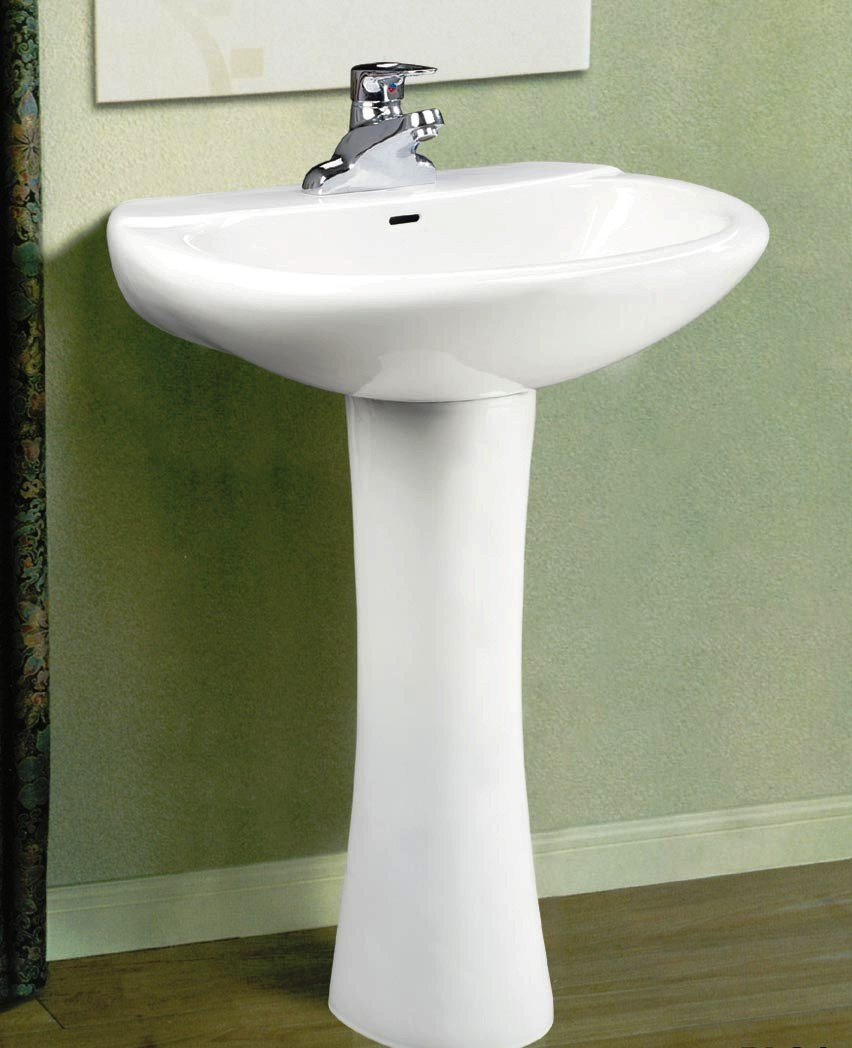Lavabos para ba o con pedestal for Lavamanos con pedestal