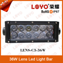 Supply 7.5'' Inch 36W 12/24v flood,spot combo driving offroad ATV 3D Lens spot lens light bar