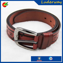 Wholesale fashion embossed genuine leather money belt for men