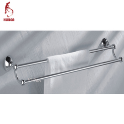 Hotel removable double bar towel rack